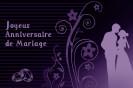 Miniature : Carte postale d'anniversaire de mariage orné d'un couple qui s'embrasse