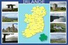 Miniature : Carte postale composée de photos et d'une carte de l'Irlande.