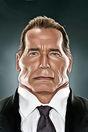 Miniature : Carte postale caricaturale de Arnold Schwarzenegger