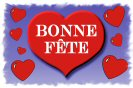Miniature : Carte postale d'un gros cœur rouge. Bonne fête.