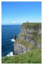 Miniature : Carte postale de falaises (Cliffs of Moher) en Irlande.