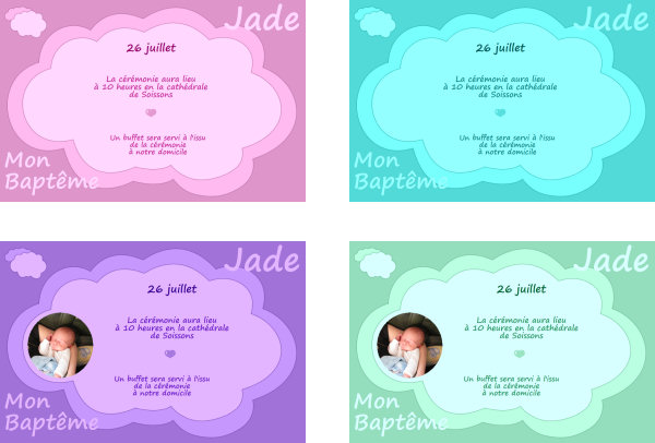 Célèbre Faire part de Bapteme gratuit à imprimer - A-Imprimer.com UP26
