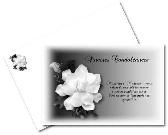 Extrêmement Faire part de Condoleances gratuit à imprimer - A-Imprimer.com MZ86