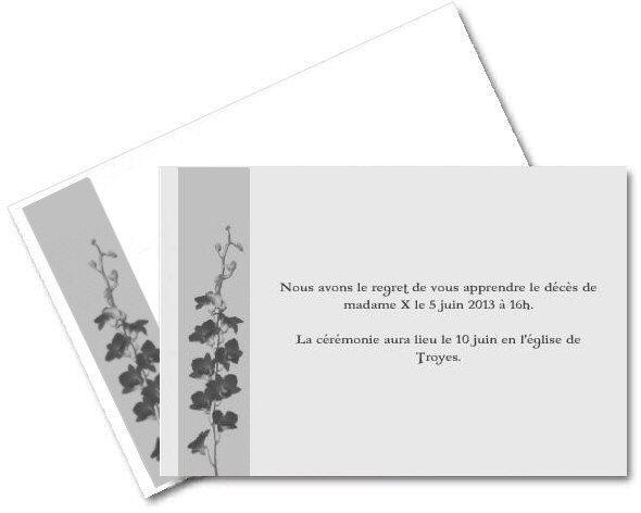 Connu Faire part de Deces gratuit à imprimer - A-Imprimer.com FE46
