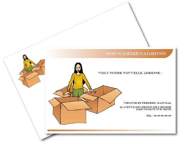 Faire part de demenagement gratuit imprimer a - Cartons pour demenagement gratuit ...