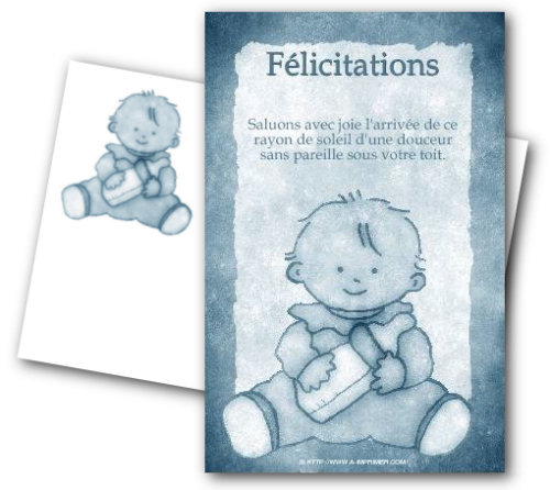 faire part de félicitations de naissance gratuit à imprimer a