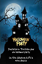 Carte d'invitation pour halloween