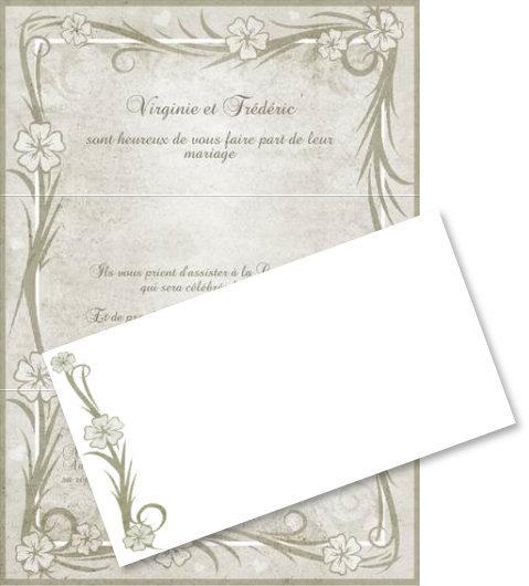 Image faire part de mariage a imprimer