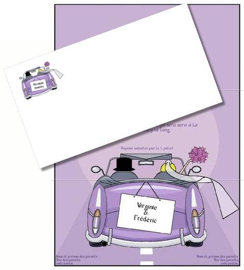 Faire part de mariage exemples gratuit imprimer a - Papier cadeau personnalisable ...