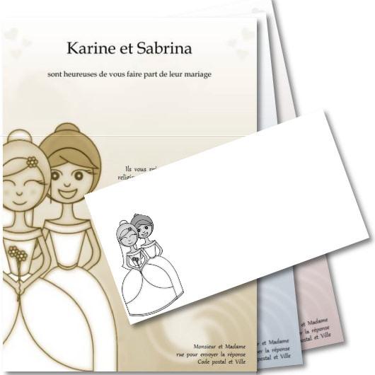Faire Part De Mariage Gratuit A Imprimer Theme Mariage Femmes