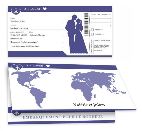 Connu Faire part de Mariage gratuit à imprimer - A-Imprimer.com YW88