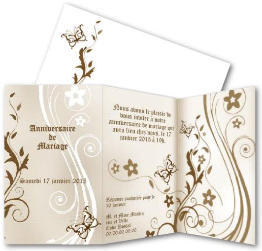 Exceptionnel Faire part mariage papillon gratuit imprimer – Votre heureux blog  TB83