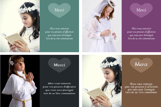 carte de remerciement communion gratuite a imprimer