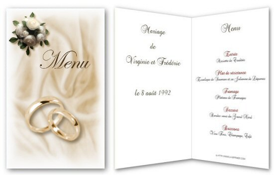 Relativ Menu de fête gratuit à imprimer. Bouquet de roses - A-Imprimer.com LB01