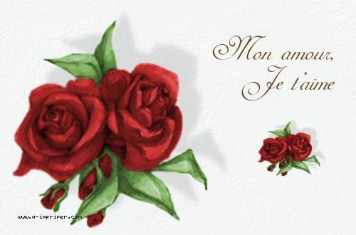 Favorit Carte postale gratuite à imprimer Amour - Un bouquet de roses - A  EM74