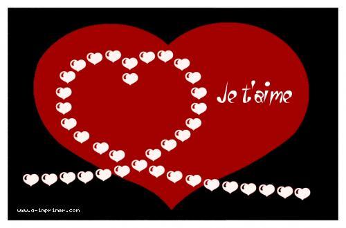 Beliebt Carte postale gratuite à imprimer Amour - Je t'aime - A-Imprimer.com MH36