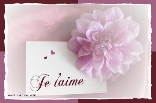 Favorit Carte postale gratuite à imprimer Amour - Je t'aime - A-Imprimer.com EM74