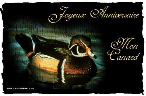 Célèbre Carte postale gratuite à imprimer Anniversaire - Mon canard - A  YT22