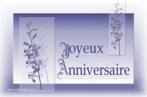 Une jolie carte postale d'orchidées pour souhaiter un anniversaire.