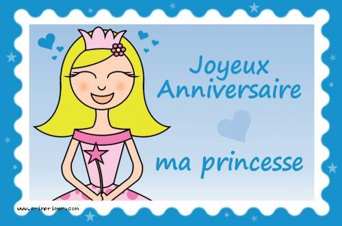 Carte Postale Gratuite A Imprimer Anniversaire La Princesse