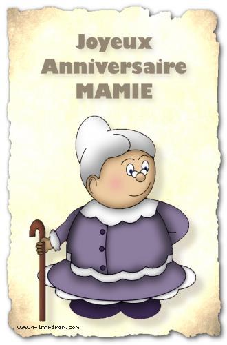 Carte Postale Gratuite à Imprimer Anniversaire Pour Mamie