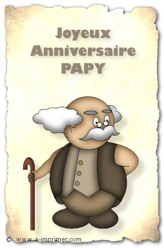 Carte Postale Gratuite A Imprimer Anniversaire Pour Papy A