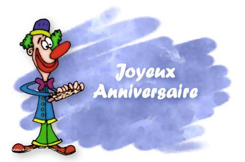 Carte Postale Gratuite A Imprimer Anniversaire Le Clown