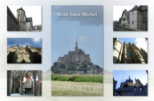 Carte postale du Mont St Michel en Normandie.