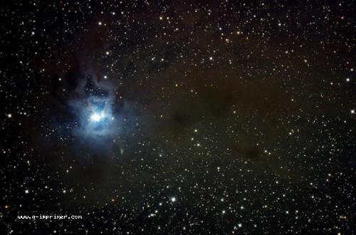 Carte postale de NGC 7023. Astronomie.