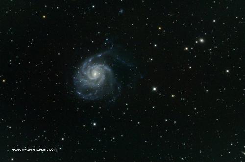Carte postale de M101. Astronomie.