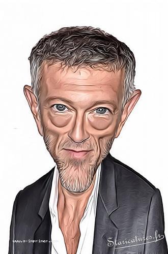 Caricature de Vincent Cassel
