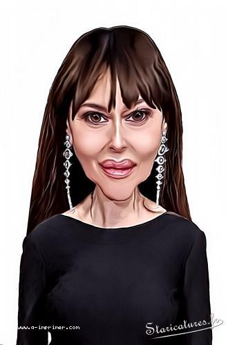Caricature de Monica Bellucci