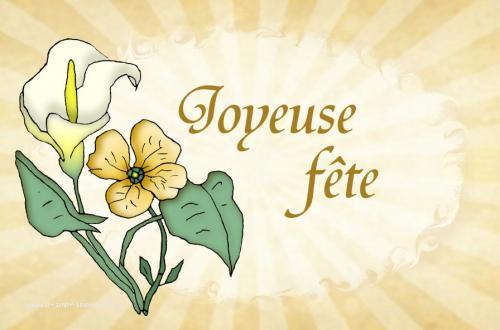 Un joli bouquet de fleur pour souhaiter une joyeuse fête.