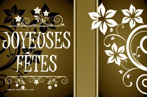 Gut gemocht Carte postale gratuite à imprimer Fin_Annee - Joyeuses fêtes - A  BV14