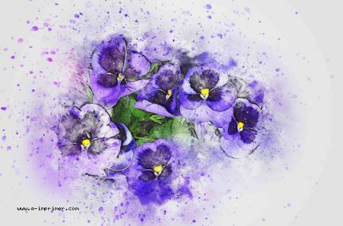 Carte postale d'un bouquet de fleurs