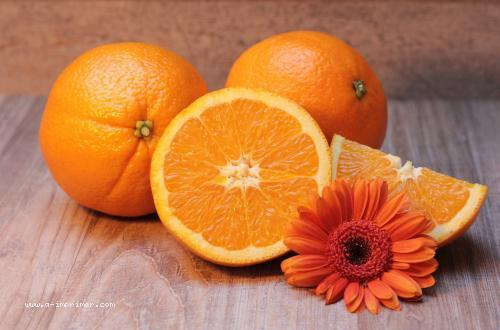 Une jolie carte d'oranges