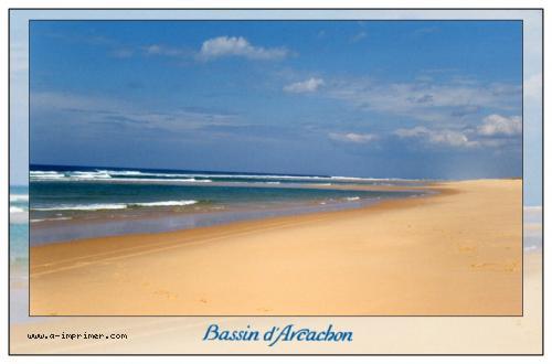 Favori Carte postale gratuite à imprimer Mer - Bassin d'Arcachon<br  PU92