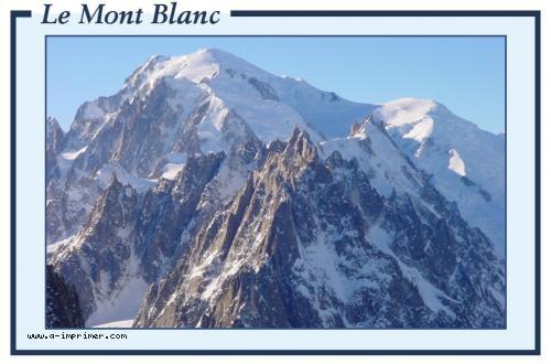carte postale gratuite  u00e0 imprimer montagne - le mont blanc