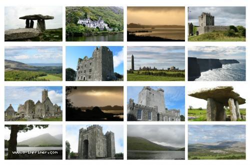 Carte postale meli melo de l'Irlande.