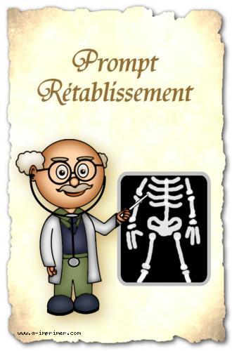 Un docteur montre une radiographie. Prompt rétablissement