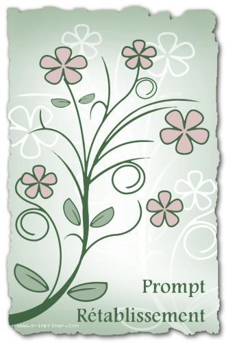 Des fleurs pour souhaiter un prompt rétablissement.