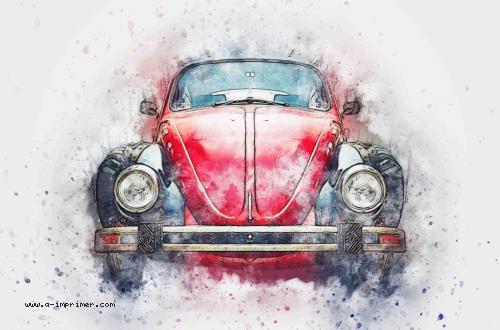 Carte postale d'une vieille voiture